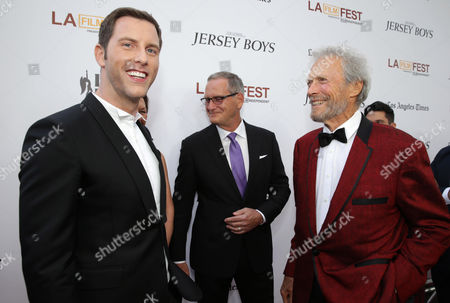 Michael Lomenda and Director/Producer Clint Eastwood seen at the Warner Bros. Premiere of 'Jersey Boys' at the 2014 Los Angeles Film Festival held at Regal Cinemas LA Live Stadium 14, in Los Angeles