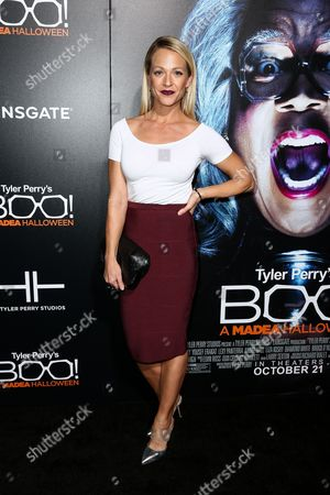 "Amanda Clayton attends the world premiere of ""BOO! A Madea Halloween"" held at ArcLight Cinerama Dome, in Los Angeles"