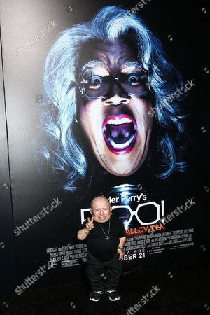 "Verne Troyer attends the world premiere of ""BOO! A Madea Halloween"" held at ArcLight Cinerama Dome, in Los Angeles"