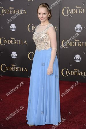 "Darcy Rose Byrnes arrives at the World Premiere Of ""Cinderella"", in Los Angeles"