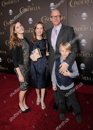 """Producer Allison Shearmur and family attend the World Premiere Of """"Cinderella"""", in Los Angeles"""