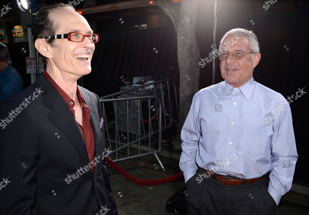 """From left to right, director David Twohy and executive Ron Meyer arrive on the red carpet at the world premiere of the feature film """"Riddick"""" at the Regency Village Theatre on in Los Angeles"""
