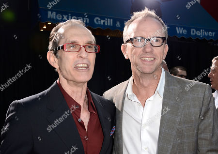 """From left to right, director David Twohy and executive producer Mike Drake arrive on the red carpet at the world premiere of the feature film """"Riddick"""" at the Regency Village Theatre on in Los Angeles"""