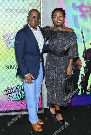 """Stock Photo of Al Roker and daughter Leila Roker attend the world premiere of """"Suicide Squad"""" at the Beacon Theatre, in New York"""