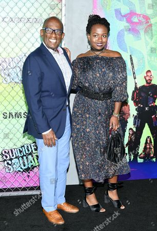 """Al Roker and daughter Leila Roker attend the world premiere of """"Suicide Squad"""" at the Beacon Theatre, in New York"""