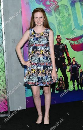 "Clare Foley attends the world premiere of ""Suicide Squad"" at the Beacon Theatre, in New York"