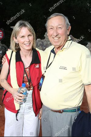 JUNE 21: Leslie Disney and Roy Disney at the World Premiere of Disney-Pixar's 'WALL-E' on at the Greek Theatre in Los Angeles, CA