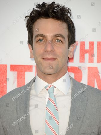 "B. J. Novak arrives at the World Premiere of ""The Internship"" at the Regency Village Westwood on in Los Angeles"