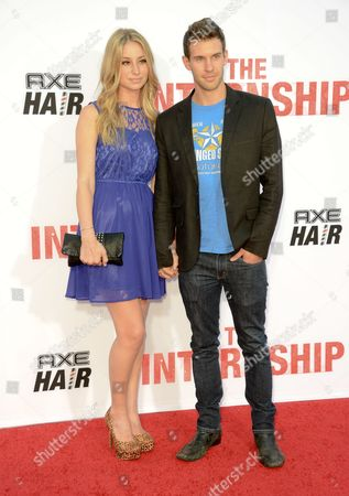 """Tina Stephens, left, and Zane Stephens arrive at the World Premiere of """"The Internship"""" at the Regency Village Westwood on in Los Angeles"""