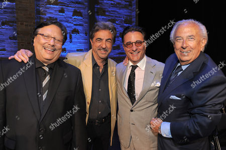 "L-R) Arturo Sandoval, Joe Montegna, Andy Garcia and Frank Mancuso attend the ""Backstage At The Geffen"" Fundraiser on in Los Angeles"