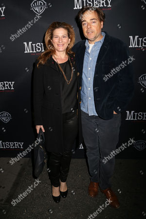"Stock Picture of Ana Gasteyer, left, and Charlie McKittrick attend the opening night of ""Misery"" on Broadway at the Broadhurst Theatre, in New York"