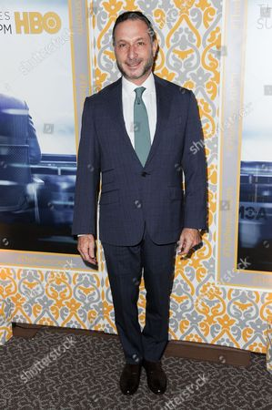 """Alan Poul arrives at """"The Newsroom"""" Season Three Premiere, in Los Angeles"""