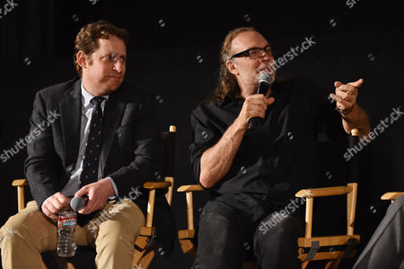 "Scott M. Gimple, left, and Gregory Nicotero are seen at ""The Walking Dead"" ATAS FYC event at the Egyptian Theater on in Los Angeles"