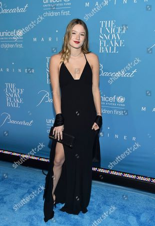 Madelaine West Duchovny attends the 12th Annual UNICEF Snowflake Ball at Cipriani Wall Street, in New York