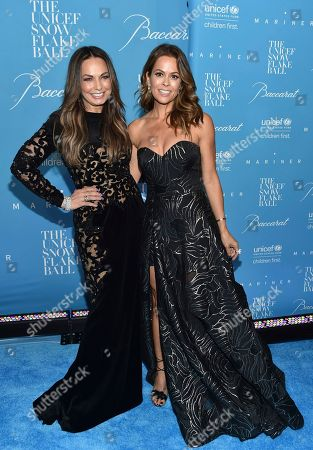 Moll Anderson, left, and Brooke Burke-Charvet attend the 12th Annual UNICEF Snowflake Ball at Cipriani Wall Street, in New York
