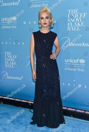 Stock Picture of Caitlin Moe attends the 12th Annual UNICEF Snowflake Ball at Cipriani Wall Street, in New York