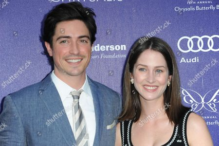 Ben Feldman, at left, and Michelle Mulitz arrives at The 13th Annual Chrysalis Butterfly Ball at Brentwood County Estates, in Los Angeles, CA