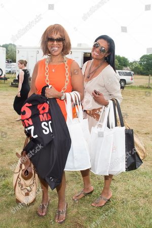 Stock Image of Gayle King and Nina Cooper attend the 17th Annual Super Saturday Ovarian Cancer Research Fund Benefit, presented by QVC, at Nova's Ark Project in Water Mill, in New York
