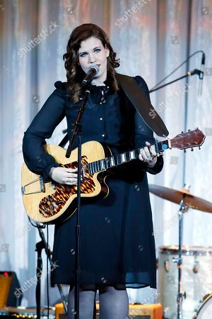 "Stock Image of Lydia Rogers of The Secret Sisters performs at the UCLA's Jonsson Cancer Center Foundation 18th Annual ""Taste for a Cure"" event at The Beverly Wilshire Hotel on in Los Angeles"