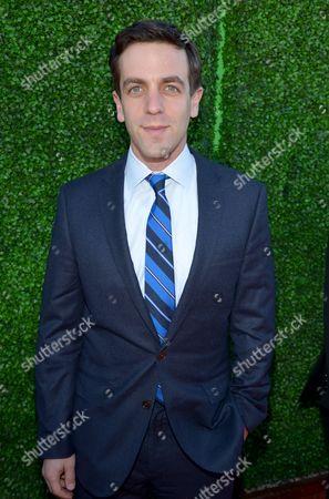 B. J. Novak arrives at the 19th annual Critics' Choice Movie Awards at the Barker Hangar, in Santa Monica, Calif