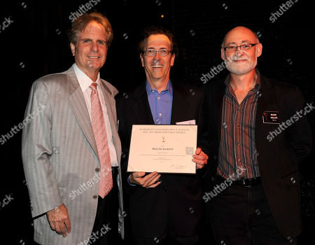 NORTH HOLLYWOOD, CA - SEPTEMBER 8: (L-R) Dan Foliart, President, the Society of Composers and Lyricists, Emmy nominee Walter Murphy, and Television Academy Governor Mark Adler pose at the 2011 Academy of Television Arts and Sciences Music Nominee Reception held at the Academy of Television Arts & Sciences in North Hollywood, California, Thursday September, 8 2011