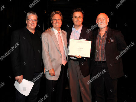 NORTH HOLLYWOOD, CA - SEPTEMBER 8: (L-R) Television Academy Governor Mark Watters, Dan Foliart, President, the Society of Composers and Lyricists, Emmy nominee Sean P. Callery, and Television Academy Governor Mark Adler pose at the 2011 Academy of Television Arts and Sciences Music Nominee Reception held at the Academy of Television Arts & Sciences in North Hollywood, California, Thursday September, 8 2011