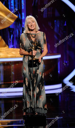 """LOS ANGELES, CA - SEPTEMBER 10: Susannah Buxton onstage accepting the award for """"Outstanding Costumes for a Miniseries, Movie, or a Special"""" at the Academy of Television Arts & Sciences 2011 Primetime Creative Arts Emmy Awards at the Nokia Theater L.A. Live on in Los Angeles, California"""