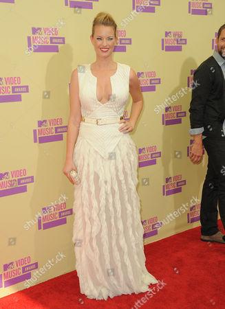 Christine Scott Bennett arrives at the MTV Video Music Awards, in Los Angeles
