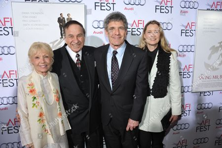 """L-R) Elizabeth Sherman, composer Richard M. Sherman, Alan Horn, Chairmen of the Walt Disney Studios and Cindy Horn arrive on the red carpet for the 2013 AFI Fest's premiere of """"Saving Mr. Banks"""" at the TCL Chinese Theatre on in Los Angeles"""