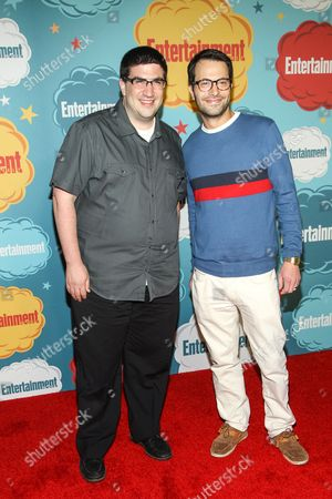 Producers Edward Kitsis (L) and Adam Horowitz arrive at the EW party on Day 4 of the 2013 Comic-Con International Convention on in San Diego