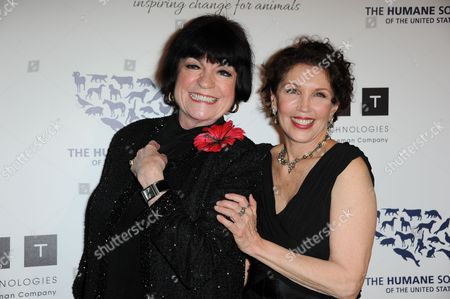 Stock Image of JoAnne Worley, left, and Beverly Kaskey arrive at the 2013 Genesis Awards Benefit Gala at The Beverly Hilton on in Los Angeles