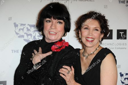 JoAnne Worley, left, and Beverly Kaskey arrive at the 2013 Genesis Awards Benefit Gala at The Beverly Hilton on in Los Angeles