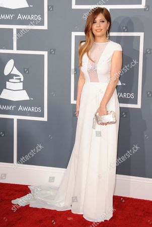 Kady Z arrives at the 55th annual Grammy Awards, in Los Angeles