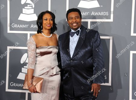 Dennis Edwards and wife Brenda arrive at the 55th annual Grammy Awards, in Los Angeles