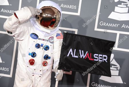 Al Walser arrives at the 55th annual Grammy Awards, in Los Angeles