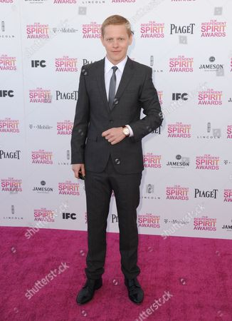 Actor Thure Lindhardt arrives at the Independent Spirit Awards, in Santa Monica, Calif