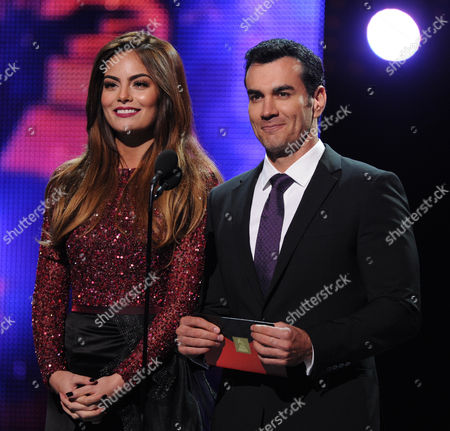 Stock Image of From left, model Ximena Navarrete and actor David Zepeda onstage at the 14th Annual Latin Grammy Awards at the Mandalay Bay Hotel and Casino, in Las Vegas
