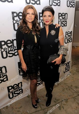 Director Sonia Nassery Cole, left, and actress Shohreh Aghdashloo attend the 23rd Annual Literary Awards at The Beverly Hills Hotel, in Beverly Hills, Calif