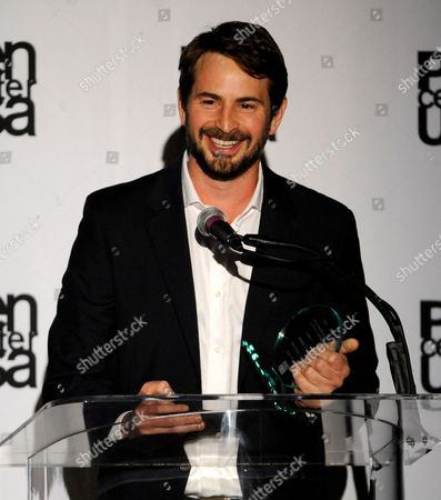 """Mark Boal accepts the screenplay award for """"Zero Dark Thirty"""" at the 23rd Annual Literary Awards at The Beverly Hills Hotel, in Beverly Hills, Calif"""
