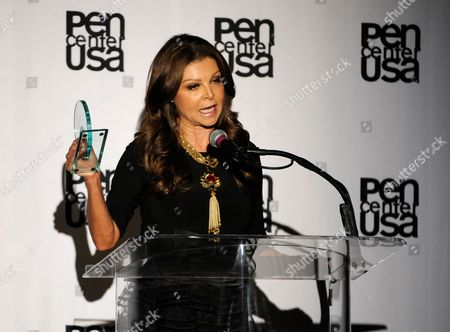 Sonia Nassery Cole accepts the freedom to write award at the 23rd Annual Literary Awards at The Beverly Hills Hotel, in Beverly Hills, Calif