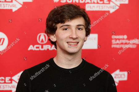 "Cast member Alex Shaffer poses at the premiere of ""The Lifeguard"" during the 2013 Sundance Film Festival on in Park City, Utah"