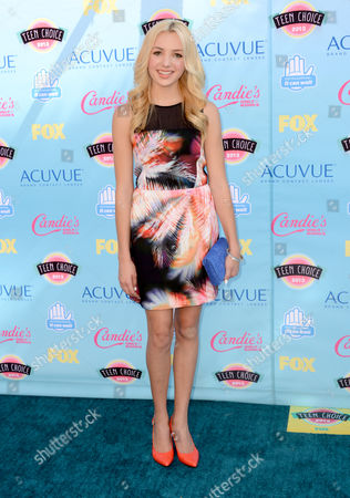Peyton R. List arrives at the Teen Choice Awards at the Gibson Amphitheater, in Los Angeles