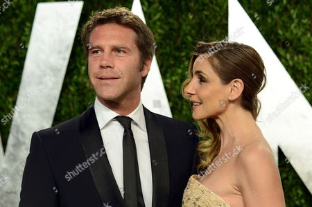 Prince Emanuele Filiberto di Savoia and Princess Clotilde Courau arrive at the 2013 Vanity Fair Oscars Viewing and After Party on at the Sunset Plaza Hotel in West Hollywood, Calif