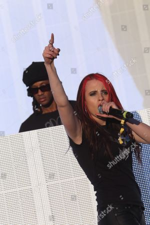 Maxim of the Prodigy performs a solo set with Cianna Blaze on vocals on day 3 of the 2013 Voodoo Music + Arts Experience at City Park on in New Orleans Louisiana