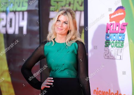 Mia Matthews arrives at the Kids' Choice Sports Awards at UCLA's Pauley Pavilion, in Los Angeles