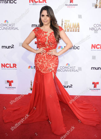 Yarel Ramos arrives at the NCLR ALMA Awards at the Pasadena Civic Auditorium, in Pasadena, Calif