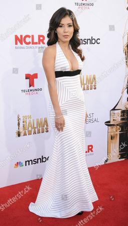 Ashley Campuzano arrives at the NCLR ALMA Awards at the Pasadena Civic Auditorium, in Pasadena, Calif
