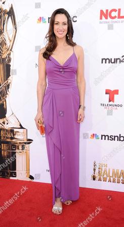 Stock Picture of Mia Mastroianni arrives at the NCLR ALMA Awards at the Pasadena Civic Auditorium, in Pasadena, Calif