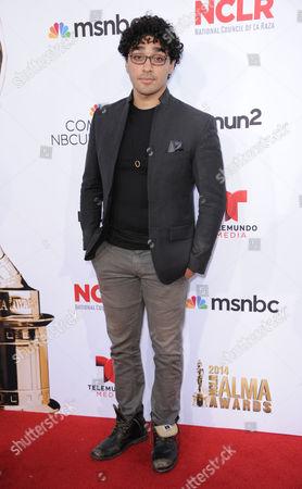 Ej Bonilla arrives at the NCLR ALMA Awards at the Pasadena Civic Auditorium, in Pasadena, Calif