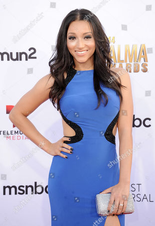 Danielle Vega arrives at the NCLR ALMA Awards at the Pasadena Civic Auditorium, in Pasadena, Calif